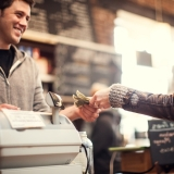Small business owner and paying customer