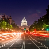 United States Capitol at night