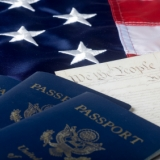 U.S. Passport, U.S. Constitution, and U.S. Flag